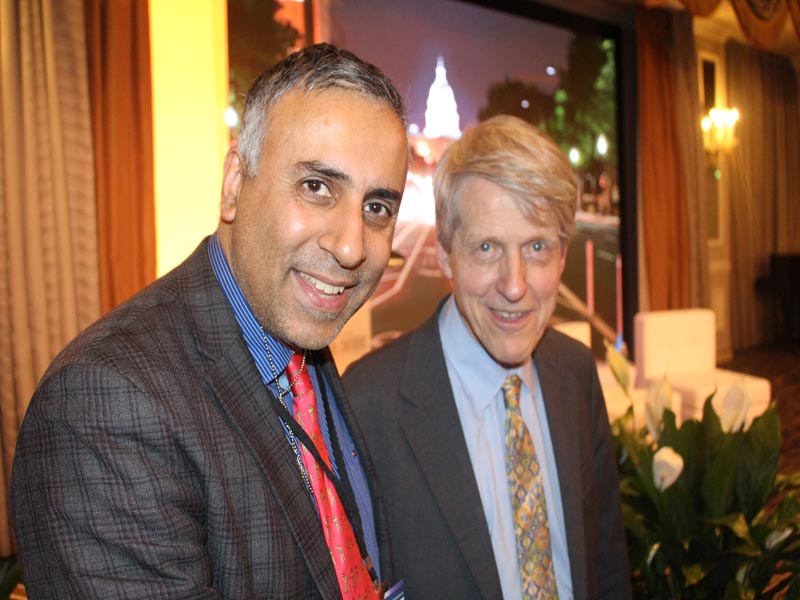 Dr Abbey with Dr Robert Shiller Nobel Laureate in Economics