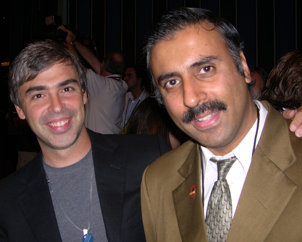 Dr.Abbey with Billionaire Larry Page Co-Founder Google