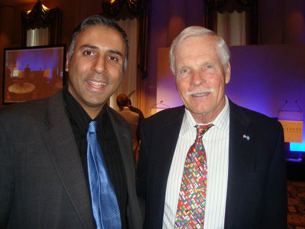 Dr.Abbey with Billionaire Ted Turner