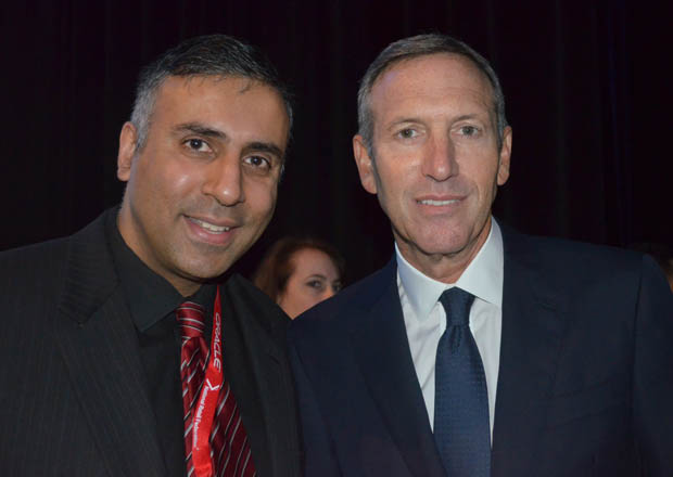Dr.Abbey with CEO & Chairman of Starbucks Howard Schultz