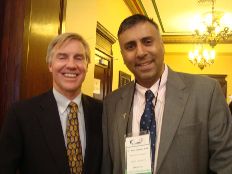 Dr.Abbey with Daryl Brewster ,CEO CECP