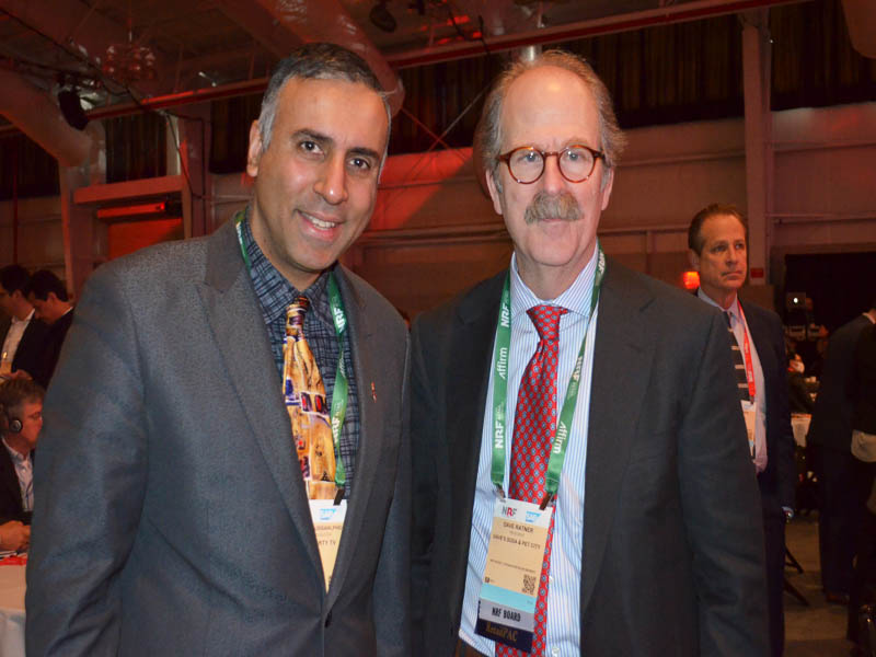 Dr.Abbey with Dave Ratner President Daves Pet Food