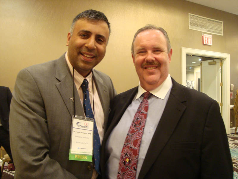 Dr.Abbey with Elliott H.Clark Organizer of CR Commit Forum