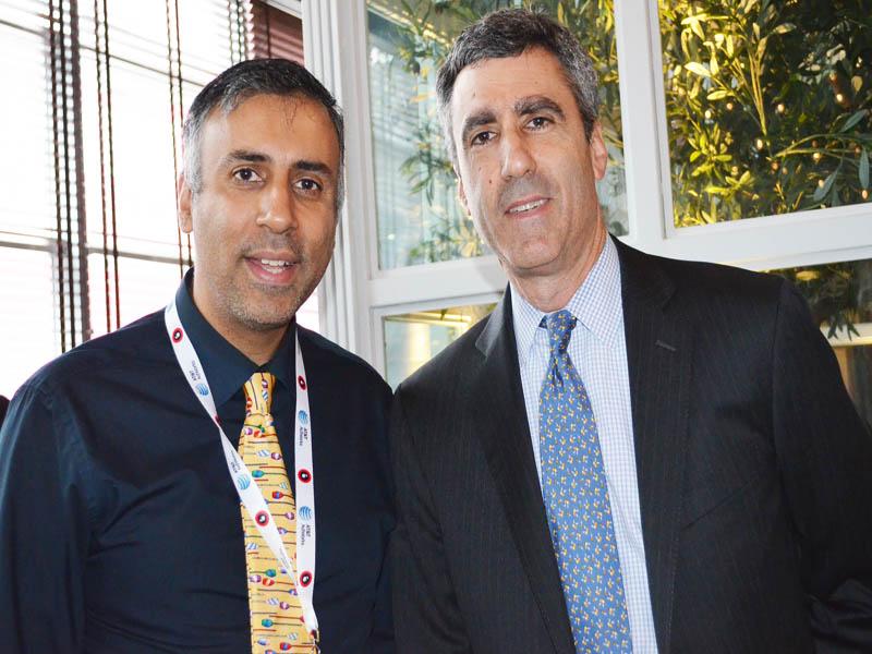 Dr.Abbey with Gary Zenkel President, NBC Olympics