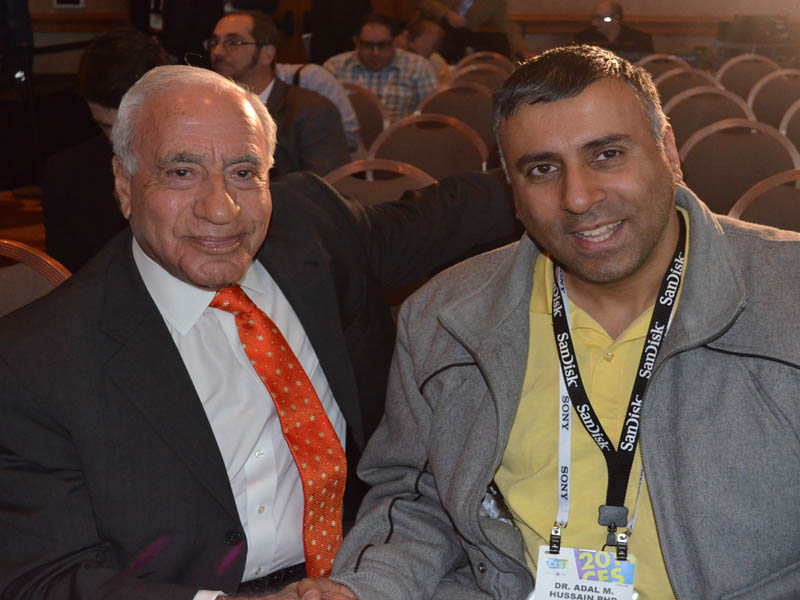 Dr.Abbey with John J.Shalam Chairman & founder Voxx Intl Corp