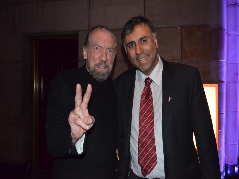 Dr.Abbey with John Paul Dejoria co-founder of Paul Mitchell