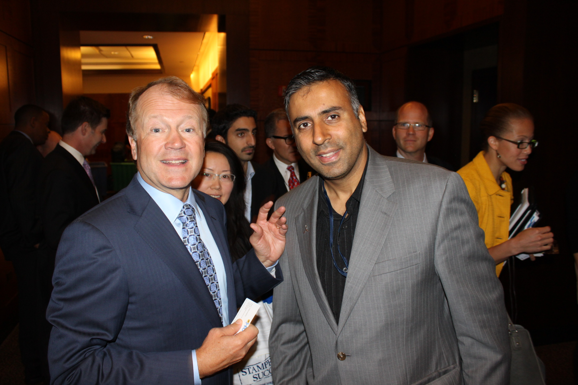 Dr.Abbey with John T. Chambers CEO of Cisco