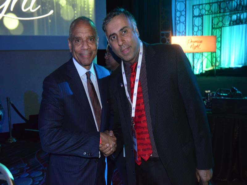Dr.Abbey with Kenneth Chenault Chairman & CEO of American Express Co