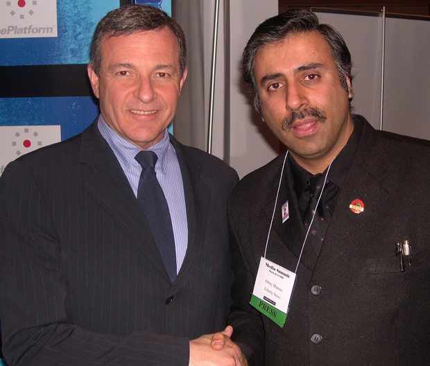 Dr.Abbey with Robert A. Iger,President Walt Disney Co,