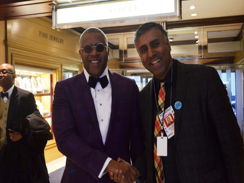 Dr.Abbey with Robert F Smith Chairman Vista Equity Partners