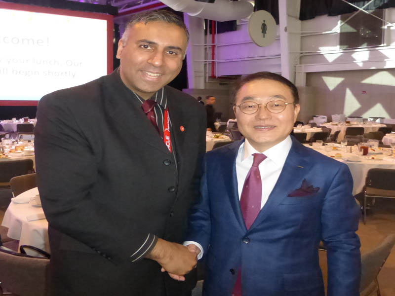 Dr.Abbey with Shin Heon ,President Lotte Shopping Co.