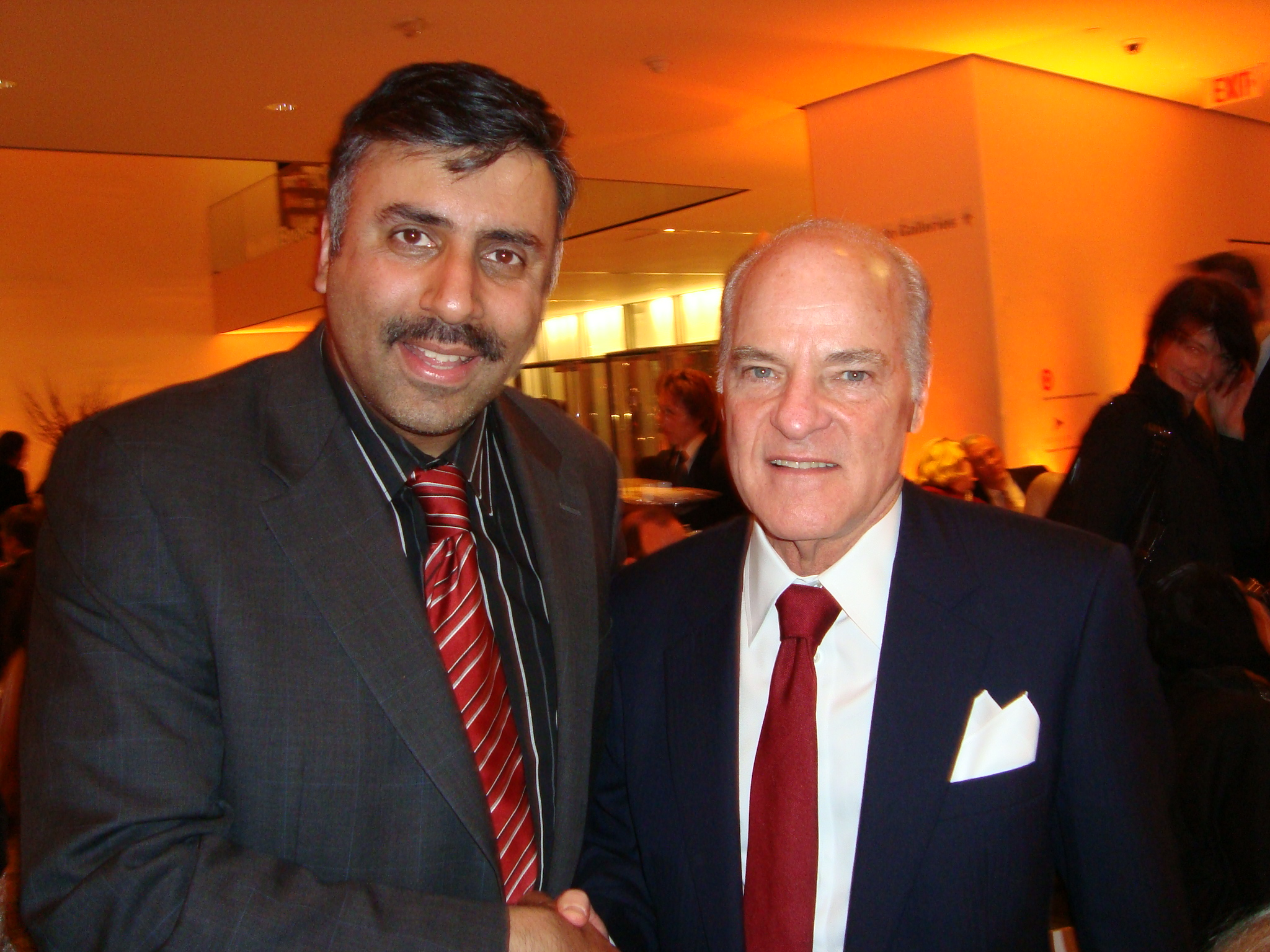 L-R Abbey Muneer with Billionaire Henry Kravis ,Chairman of KKR