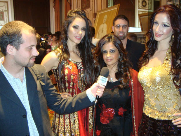Charles Spinella with Charisma Designer and  her models