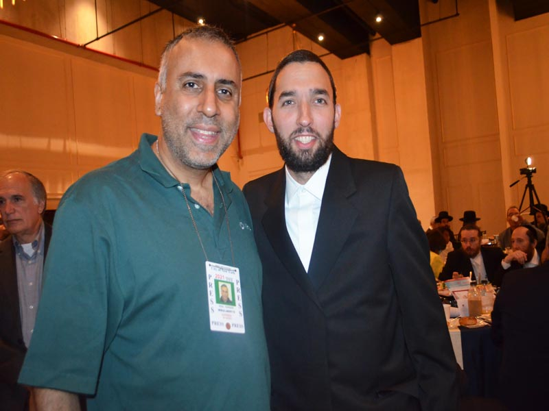 Dr Abbey with  Simcha Eichenstein New York State Assembly member