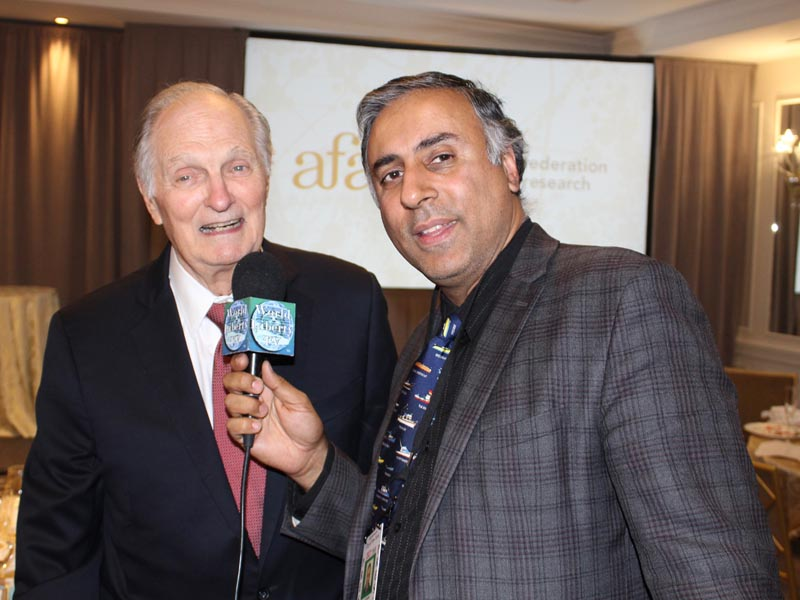 Dr Abbey with Actor Alan Alda