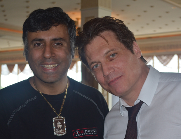 Dr Abbey with Actor Holt McCallany
