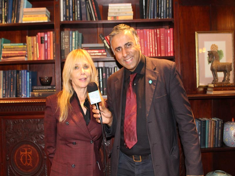 Dr Abbey with Actress & Advocate Rosanna Arquette