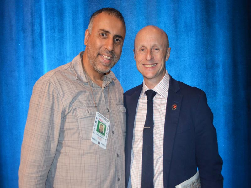 Dr Abbey with Andy Byford President MTA NYC Transit
