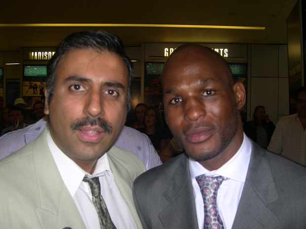 Dr Abbey  with Boxing's Oldest Boxer  Bernard Hopkins