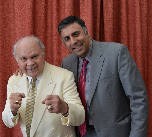 Dr Abbey with Carlos Ortiz 2 time World Boxing Champion