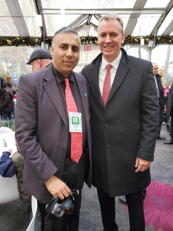 Dr Abbey with Dermot Shea NYPD Commisioner