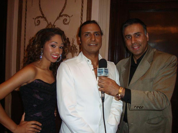 Dr Abbey with Designer Ariel Cedeno and his model