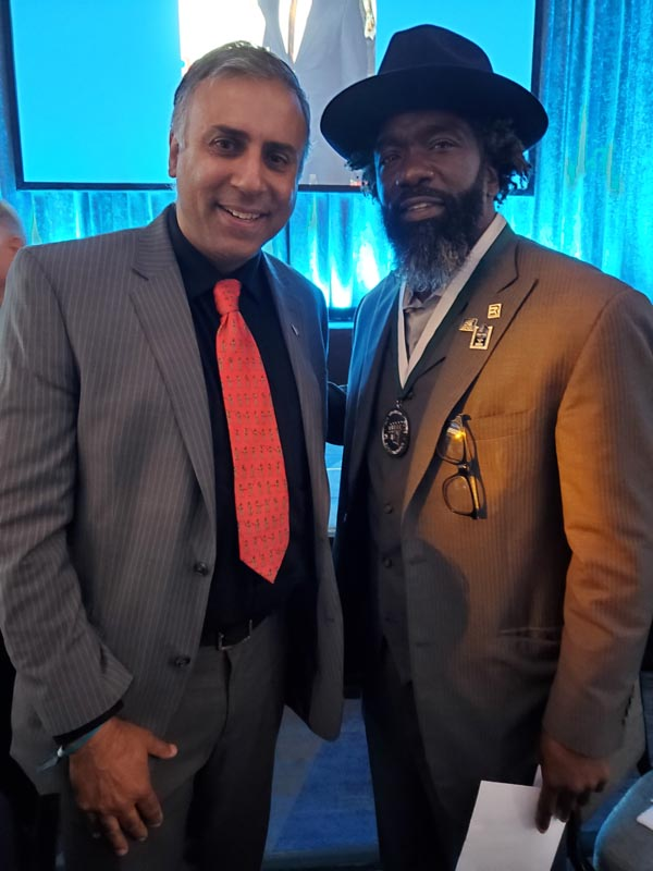 Dr Abbey with Ed Reed, Super Bowl Champion and nine-time All-Pro