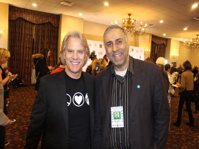 Dr Abbey with Gregg R Oehler Chairman of NY Pet Fashion Show