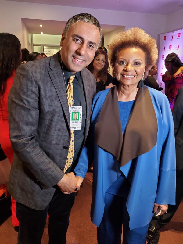Dr Abbey with Leslie Uggams ,Award winning actress