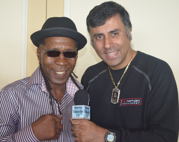 Dr Abbey with Livingston Bramble Former Lightweight World Boxing Champ