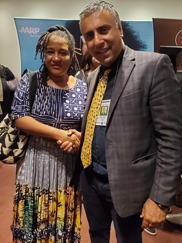 Dr Abbey with Lynn Nottage Pulitzer Prize winner