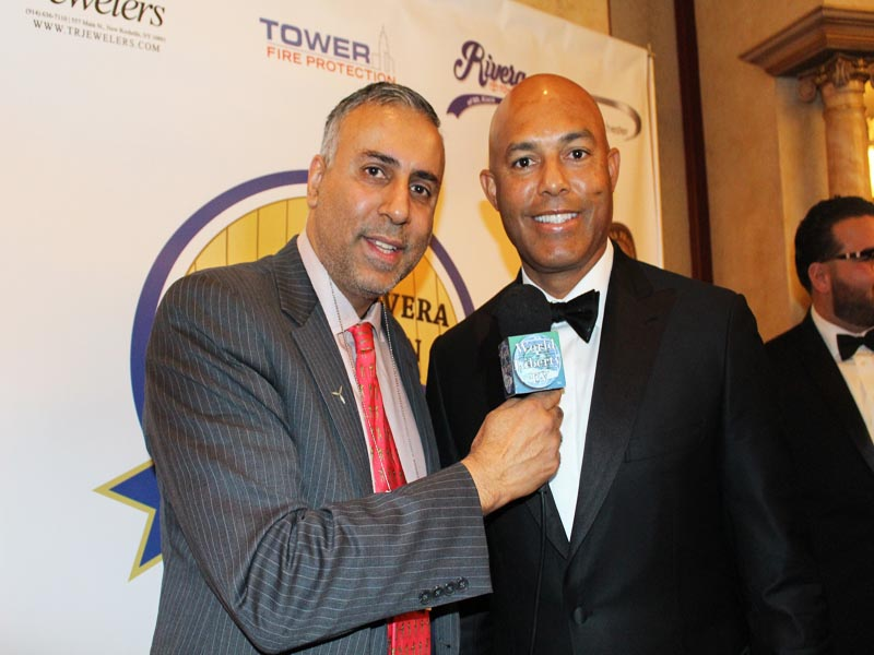 Dr Abbey with Mariano Rivera