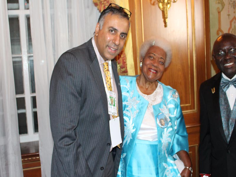 Dr Abbey with Martin Luther King Jr.'s sister-in-law Naomi King
