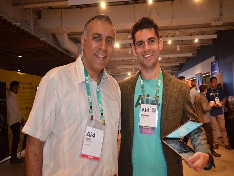 Dr Abbey with Michael Weis Co-Founder AI4
