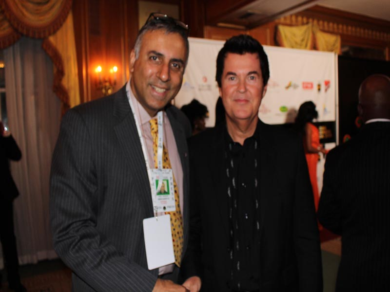Dr Abbey with Simon Fuller Creator of American Idol