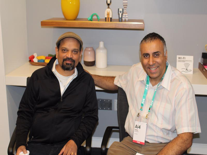 Dr Abbey with SriSatish Ambati Founder & CEO H20.ai and keynote speaker
