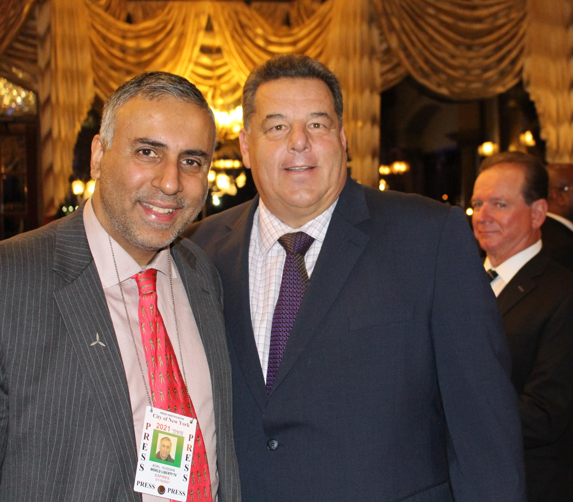 Dr Abbey with Steven Ralph Schirripa Actor on Soprano's & Bluebloods