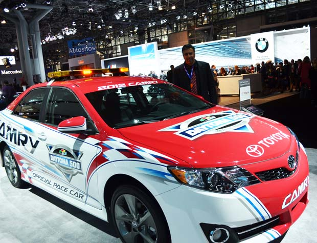 Dr Abbey with Toyota Camry Racing car