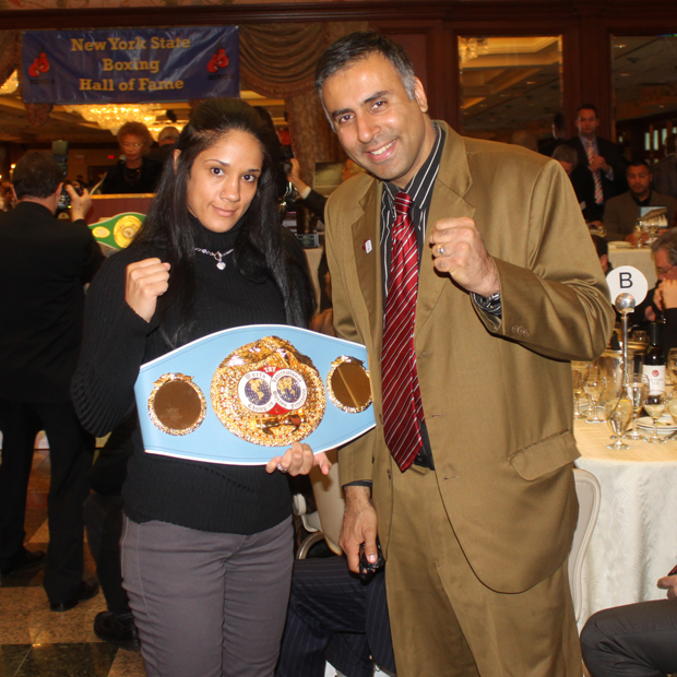 "Dr Abbey with Womens IBF,World Boxing Champion ,Amanda ""The Real Deal"" Serrano"