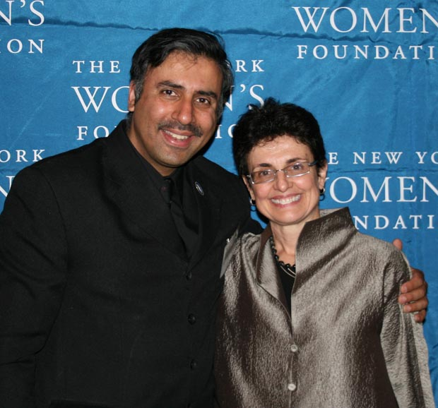 Dr. Abbey with Ana L. Oliveira,President NY Womens Foundation