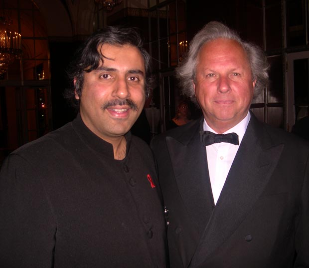 Dr. Abbey with Graydon Carter of Vanity Fair
