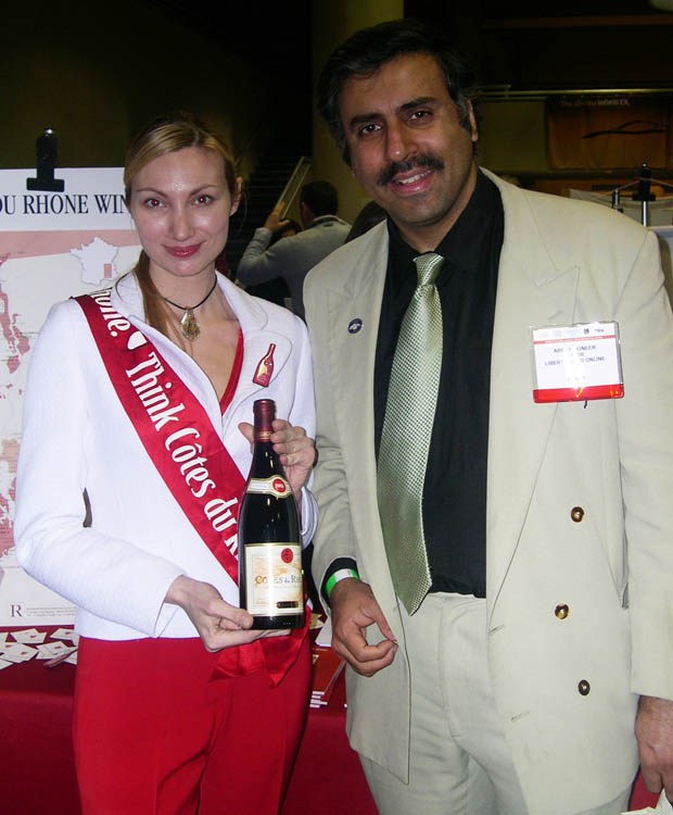 Dr. Abbey with  Miss Cotes Du Rhone Wine  08