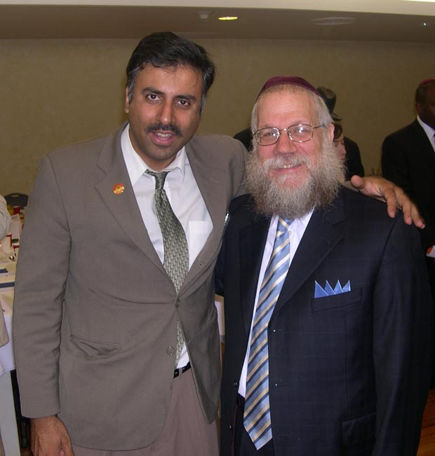 Dr. Abbey  with Rabbi Shea Hecht President NCFJE