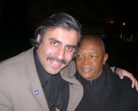 Dr. Abbey with SA Jazz Great Hugh Masekela
