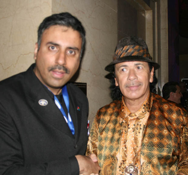 Dr. Abbey with The Great Carlos Santana