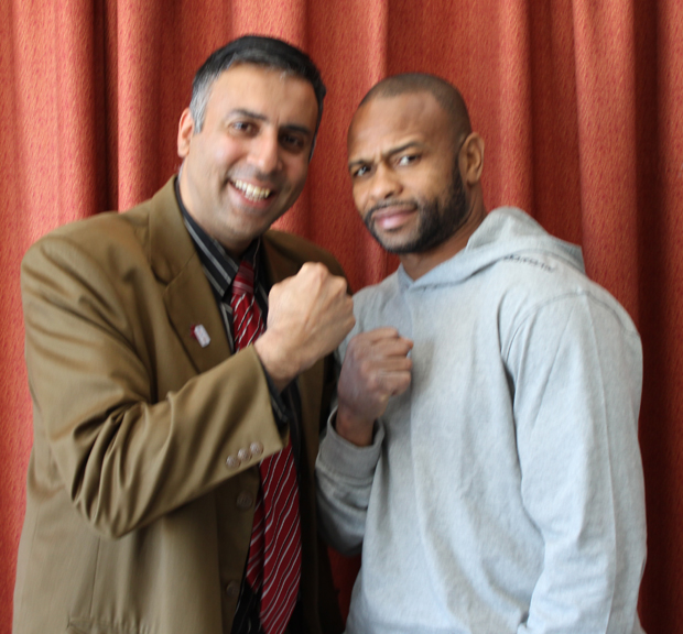 Dr.Abbey Posing with Boxing great Roy Jones Jr