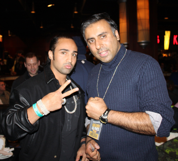 Dr.Abbey Posing with paulie malignaggi
