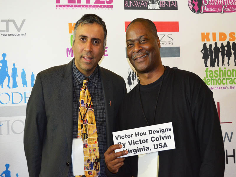 Dr.Abbey With Designer Victor Colvin