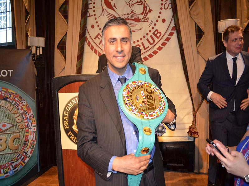 Dr.Abbey waering WBC Emerald Belt Valued at 1 million Dollars