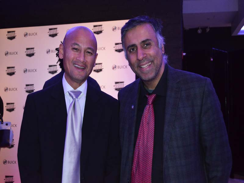 Dr.Abbey with . Richard Cho, General Manager of the Charlotte Hornets